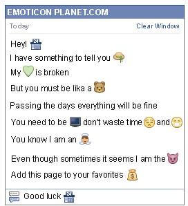 Conversation with emoticon 24 Hours Store for Facebook