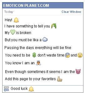 Conversation with emoticon Alarm for Facebook