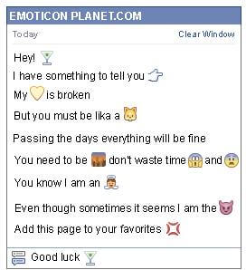 Conversation with emoticon Alcohol for Facebook