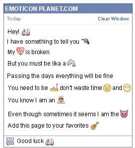 Conversation with emoticon Ambulance for Facebook