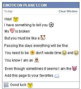 Conversation with emoticon Angel for Facebook