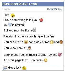 Conversation with emoticon Angry for Facebook