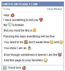 Conversation with emoticon Apple for Facebook