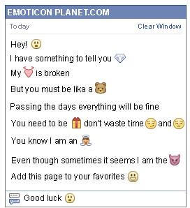 Conversation with emoticon Astonishment for Facebook
