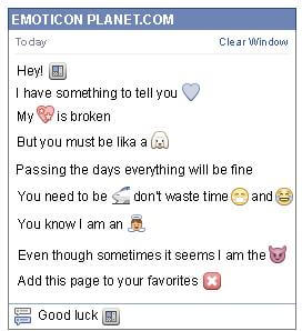 Conversation with emoticon Atm for Facebook
