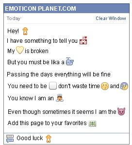 Conversation with emoticon Baby Symbol for Facebook