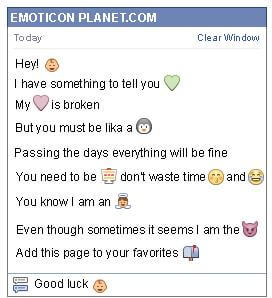 Conversation with emoticon Baby for Facebook