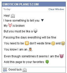 Conversation with emoticon Bank for Facebook