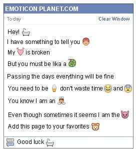 Conversation with emoticon Bath Tub for Facebook