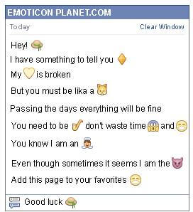 Conversation with emoticon Beach Hat for Facebook