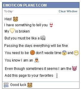 Conversation with emoticon Beaver for Facebook