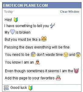 Conversation with emoticon Beginner Driver for Facebook