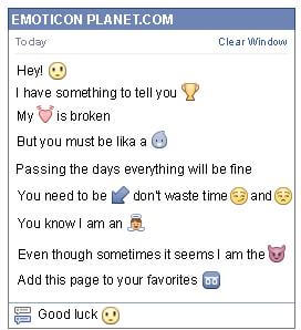 Conversation with emoticon Big Eyes for Facebook