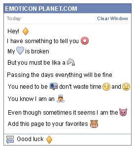 Conversation with emoticon Big Gold Rhombus for Facebook