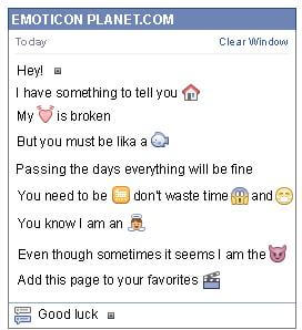 Conversation with emoticon Black Button for Facebook