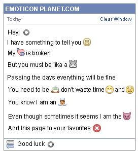 Conversation with emoticon Black Circle for Facebook