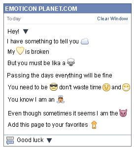 Conversation with emoticon Black Cone for Facebook
