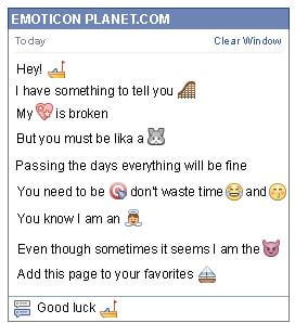 Conversation with emoticon Boat for Facebook
