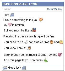 Conversation with emoticon Building for Facebook