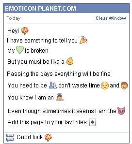 Conversation with emoticon Bunch of Roses for Facebook