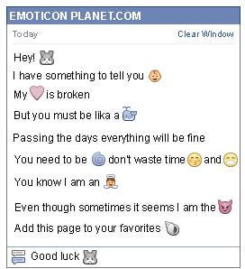Conversation with emoticon Bunny for Facebook