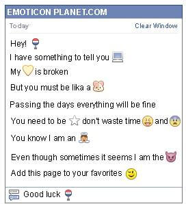 Conversation with emoticon Bus Stop for Facebook