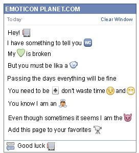 Conversation with emoticon Business Building for Facebook