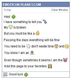 Conversation with emoticon Cactus for Facebook