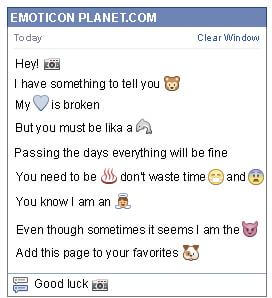 Conversation with emoticon Camera for Facebook