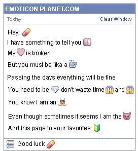 Conversation with emoticon Capsule Medicine for Facebook