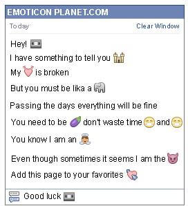 Conversation with emoticon Cassette for Facebook