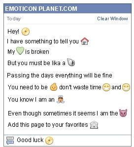 Conversation with emoticon Cd for Facebook