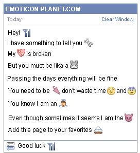 Conversation with emoticon Cell Phone Service Sign for Facebook