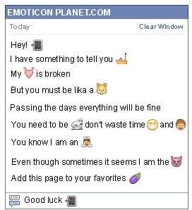 Conversation with emoticon Cell Phone for Facebook
