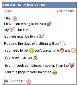 Conversation with emoticon Chat Flower for Facebook