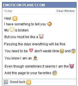 Conversation with emoticon Chinese business Symbol for Facebook