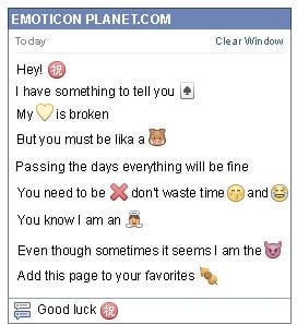 Conversation with emoticon Chinese congratulation Symbol for Facebook