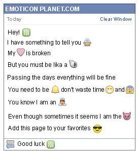 Conversation with emoticon Chinese direction Symbol for Facebook