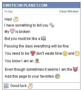 Conversation with emoticon Chinese Food for Facebook