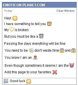 Conversation with emoticon Chinese monkey Symbol for Facebook