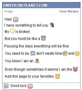 Conversation with emoticon Chinese on Sale Symbol for Facebook