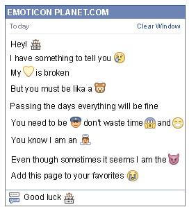 Conversation with emoticon Chinese Restaurant for Facebook