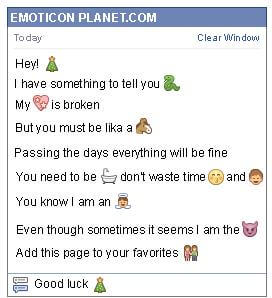 Conversation with emoticon Christmas Tree for Facebook