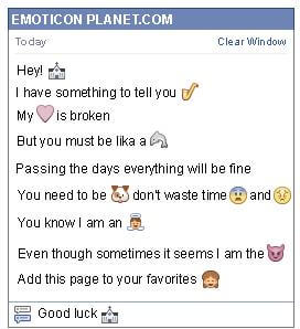Conversation with emoticon Church for Facebook
