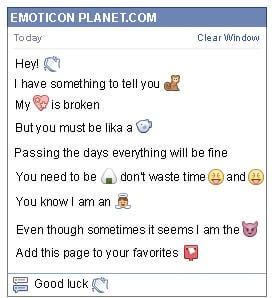 Conversation with emoticon Claps for Facebook