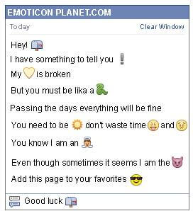 How to make Closed Mailbox Emoticon on Facebook