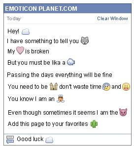 Conversation with emoticon Cloud for Facebook