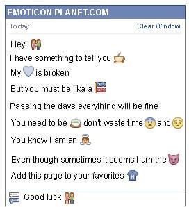 Conversation with emoticon Couple for Facebook