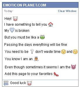 Conversation with emoticon Cow for Facebook
