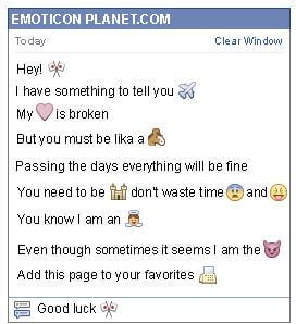 Conversation with emoticon Crossed Flags for Facebook